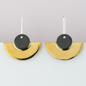 Erin Lightfoot - Earrings black crescents