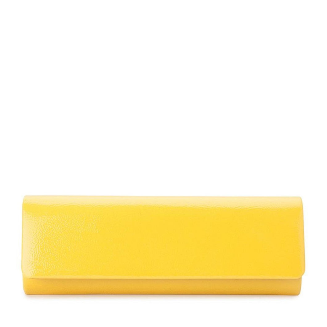 Olga Berg - LANA Patent Clutch Yellow
