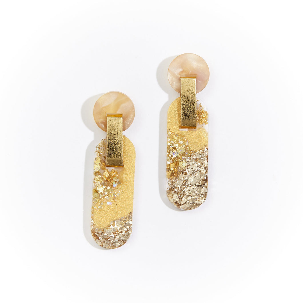 Martha Jean - Eye Earrings Gold