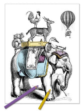 Load image into Gallery viewer, Alibabette Editions - Engraving to colour, Bon Voyage