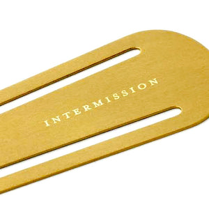IZOLA - Brass Bookmark INTERMISSION