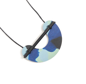 Martha Jean - Resin Necklace Blue