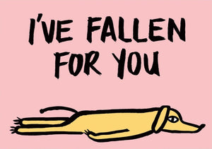 WRAP card - I've fallen for you