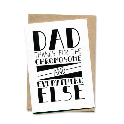 Things By Bean Card - Dad thanks for the chromosome