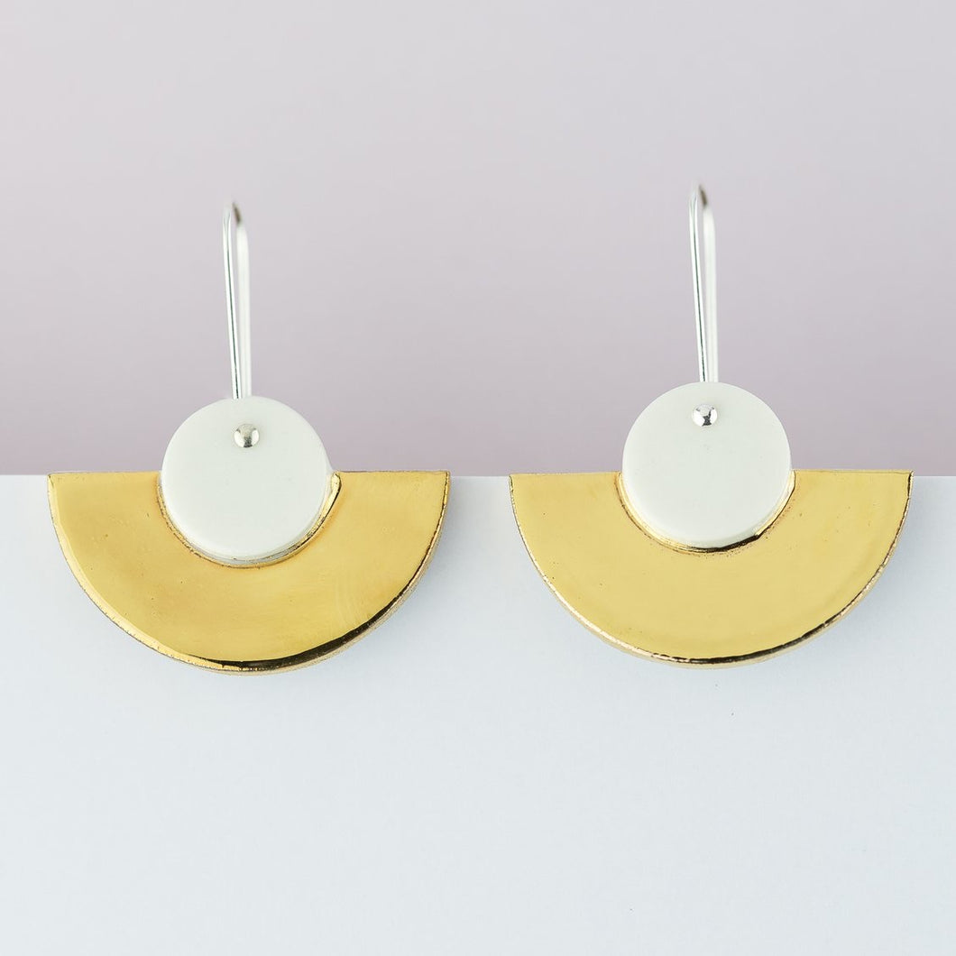 Erin Lightfoot - Earrings white crescents