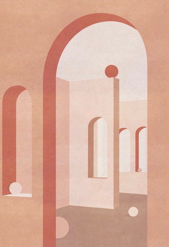 WRAP - card Charlotte Taylor Artwork Terracotta Arches