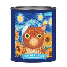 Load image into Gallery viewer, Mudpuppy - Artsy Cats Puzzle Tins Vincat Van Gogh
