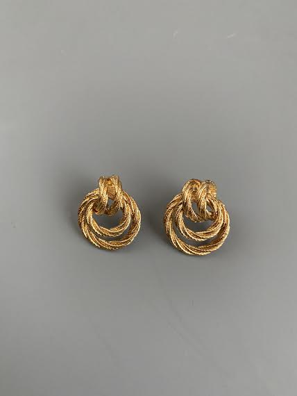 1970's Avon Gold Circle Earrings