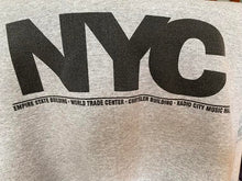 Load image into Gallery viewer, 1990's NYC Grey Crew Neck Sweatshirt