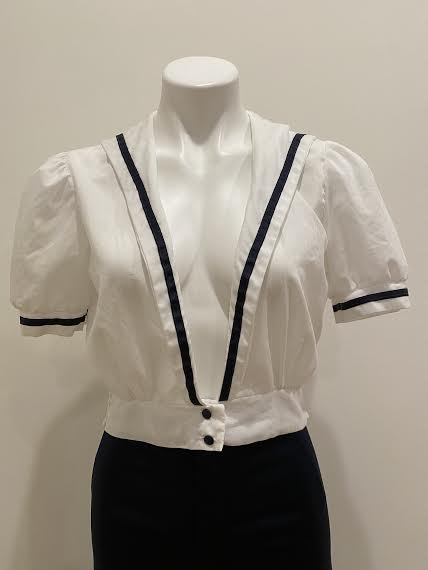 Cropped Sailor Top, 1970's