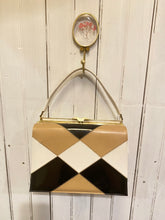 Load image into Gallery viewer, Retro Brown and Black Purse, 1960's