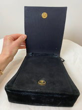 Load image into Gallery viewer, Black Suede Purse with Gold