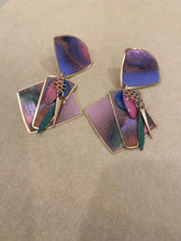 Load image into Gallery viewer, Colorful drop earring, 1960's