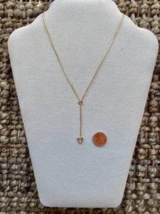 Gold Triangle Slider Necklace