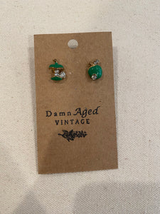 Little Apple Core Earrings
