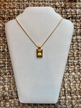 Load image into Gallery viewer, Canary Yellow Gem Necklace
