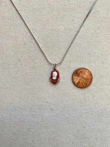 Silver Cameo Chain Necklace