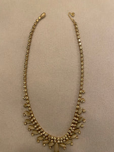 Sparkly drop necklace, 1950's