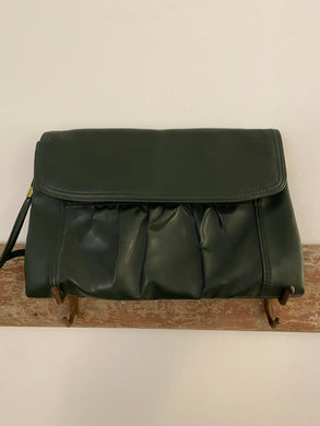 Olive Green Clutch with Shoulder Strap, 1990's
