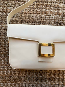 Cream Belt Buckle Handbag