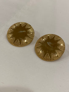 1970's Gladiator Shield Earrings