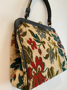 Floral Top Handle Bag