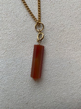 Load image into Gallery viewer, Pointed Carnelian Stone Necklace
