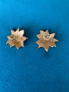 1960's sunflower earrings