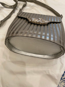 1970's Silver Stripe Elephant Purse