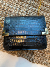 Load image into Gallery viewer, Mini Box Fold-Over Handbag with Gold Chain Strap