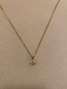 Diamond drop necklace, 1990's