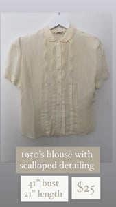 1950's scalloped blouse