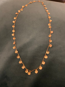 Gold little shell necklace, 1970's