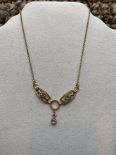 Load image into Gallery viewer, Fleur De Lis Drop Necklace, 1940's