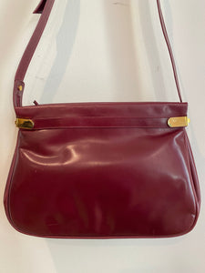 Oxblood Messenger Handbag