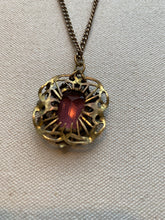 Load image into Gallery viewer, Clear Purple Stone Necklace, 1940's