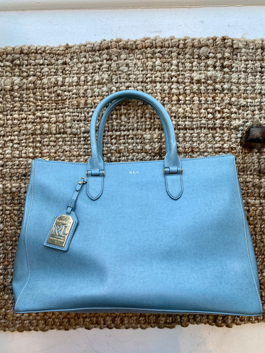 Large Sky Blue Tote