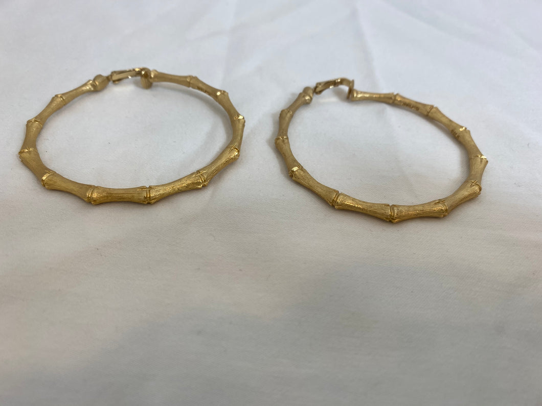 Gold Bamboo Hoops, 1970's