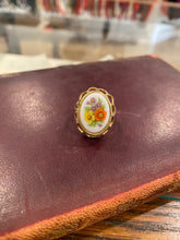 Load image into Gallery viewer, Floral Locket Ring, 1970's
