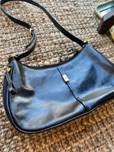 Load image into Gallery viewer, Etienne Aigner Black shoulder purse with genuine leather, 1990's