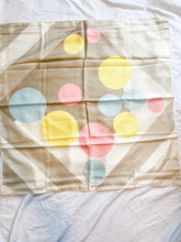 Load image into Gallery viewer, Pastel Polka Dot Vintage Scarf, 1960's