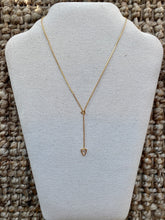 Load image into Gallery viewer, Gold Triangle Slider Necklace