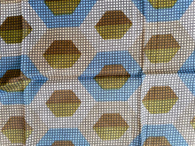 Load image into Gallery viewer, Geometric Vintage Scarf, 1970's