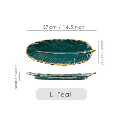 Heavenly Feather Ceramic Plate