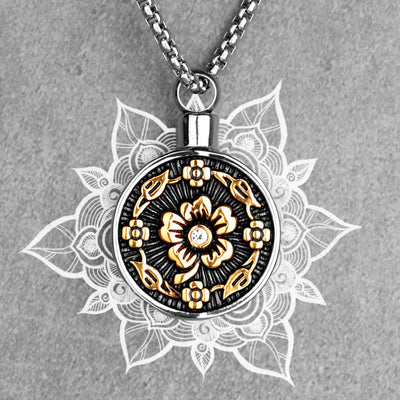 Floral Aroma Gilded Pendant