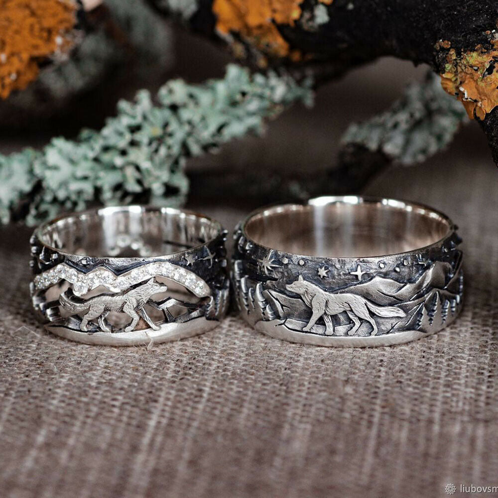 Loyal Wolf Duo Rings
