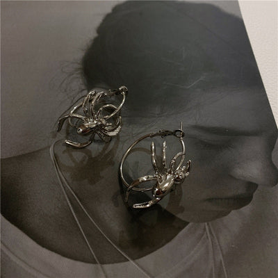 Metal Spider Earrings