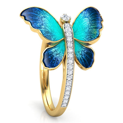 Bluebird Butterfly Ring