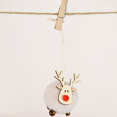 Felt Wood Elk Ornaments