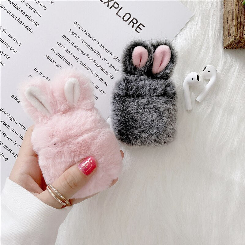 Fluffy Bunny Case for AirPods & AirPods Pro